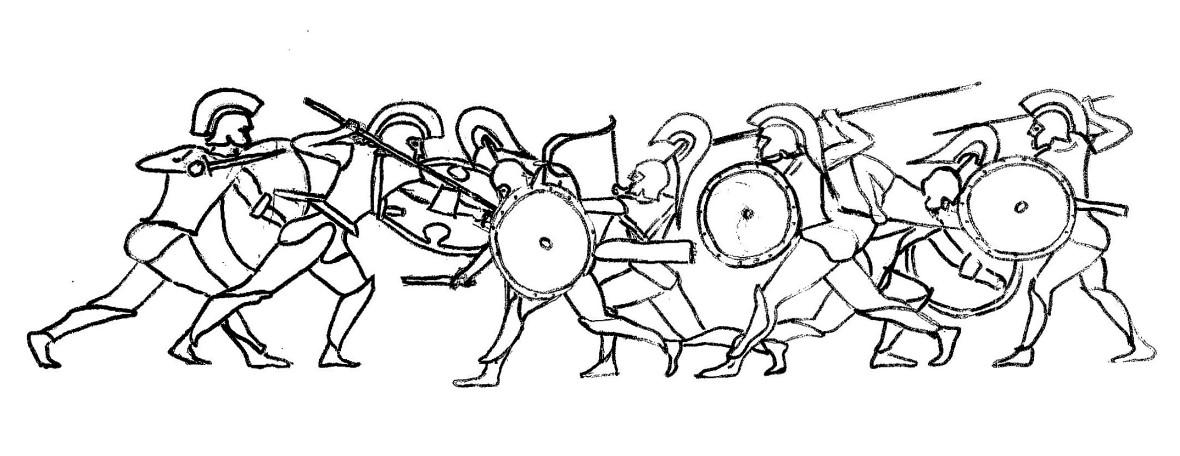 Greek urn drawing